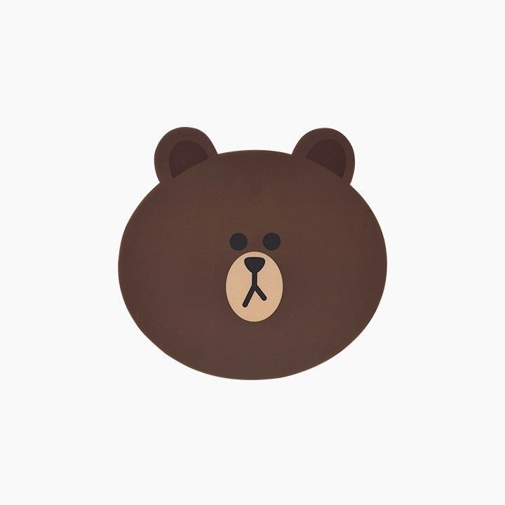 9802edaf5 LINE FRIENDS Character Face Mouse Pad BROWN Official Goods #LINEFRIENDS