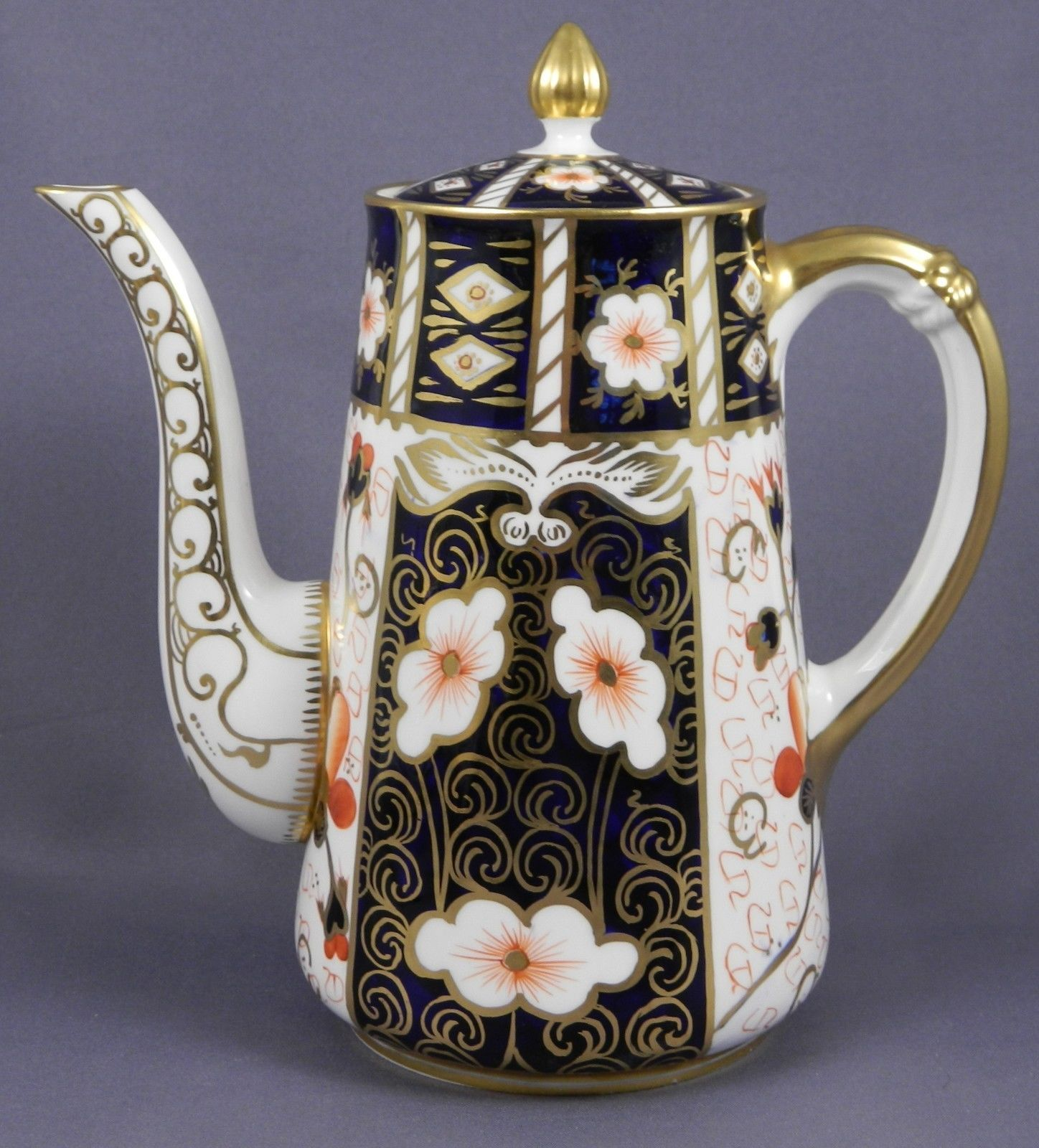 """Royal Crown Derby """"Traditional Imari"""" Coffee Pot. This pattern was introduced in…"""