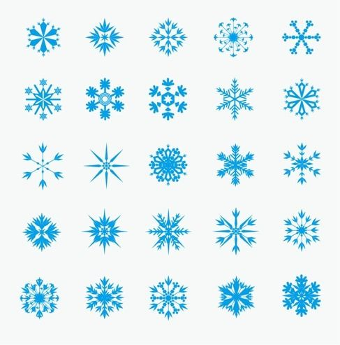 Ice Crystal Snowflakes Vector Graphic Free Plus Lots Of Other Images And Design Inspiration Silhouette Cameo Tatouage
