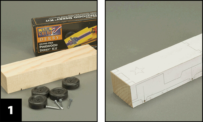 Pinewood derby jeep plans   free template download.