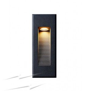 Ip65 3w low level led recessed wall light 3000k 52lm in anthracite awll05bk ip65 3w low level led recessed wall light 3000k 52lm in anthracite black brick led downlight aloadofball Image collections