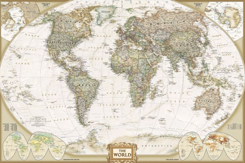 Traditional old style world map mural muralswallpaper wall traditional old style world map mural muralswallpaper gumiabroncs Image collections