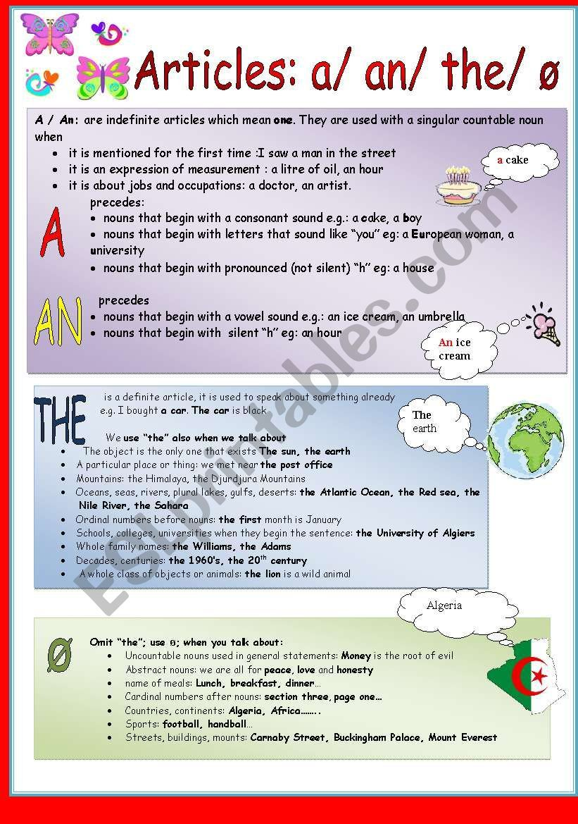 A An The Zero Article Worksheet Articles Worksheet Grammar Worksheets Article Grammar [ 1169 x 821 Pixel ]