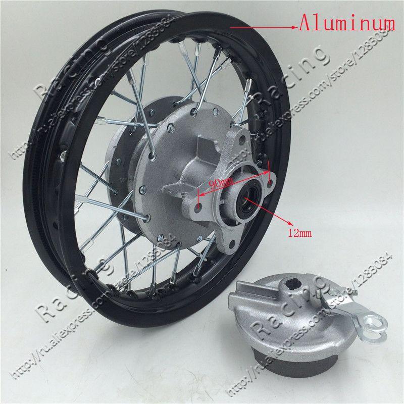 Rear 10 Inch 28holes Aluminum Alloy Wheel Rims Drum Brake Hub For Dirt Bike Pit Bike Ktm Crf Kayo Bse Apollo Wheel Rims Alloy Wheel Rim Alloy Wheel