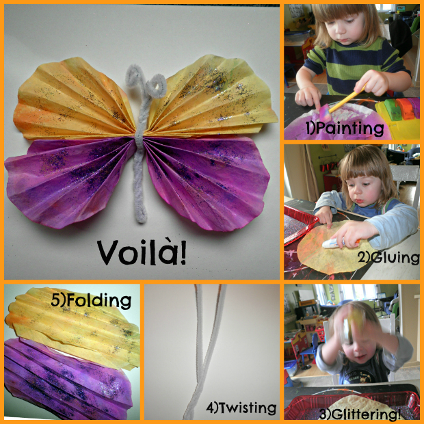 Small Hands Creating Hope – Coffee filter butterfly