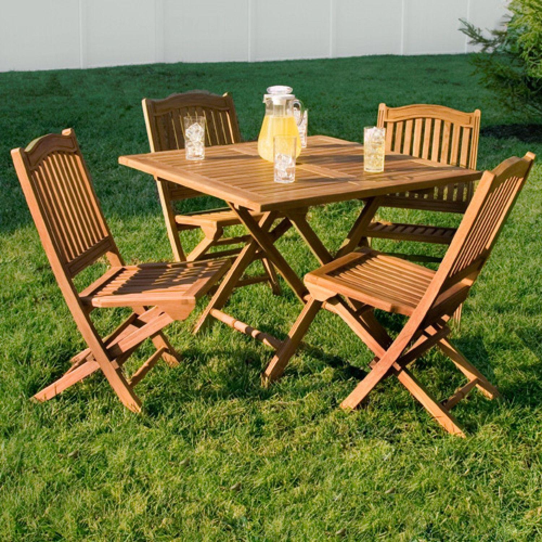 Teak Square Folding Dining Table Backyard dining table