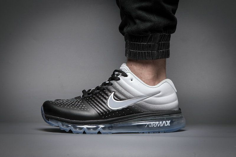 Leather Nike Air Max 2017 Gradual Change Black White Tick