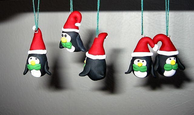 clay ornaments | handmade clay penguin ornaments - a photo on Flickriver