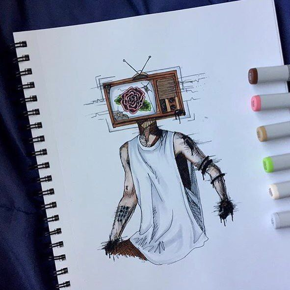 tv drawing. drawing reference tv