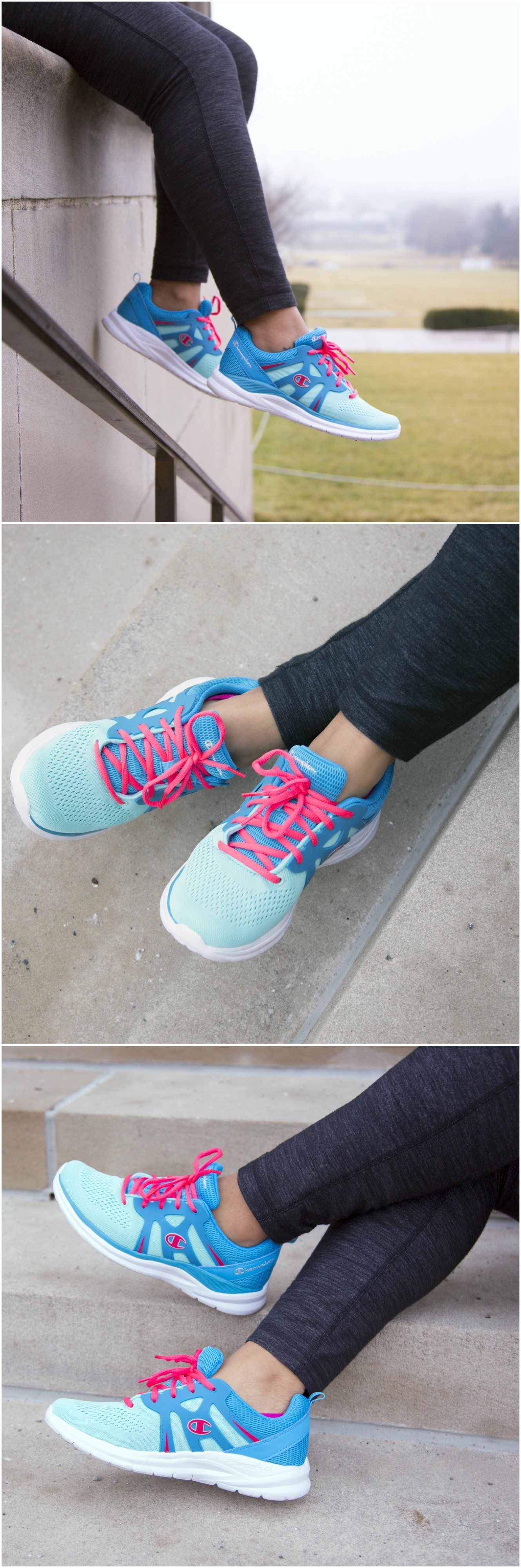 Lace up the Exhilarate Runner from Champion and enjoy Power Flex Technology.