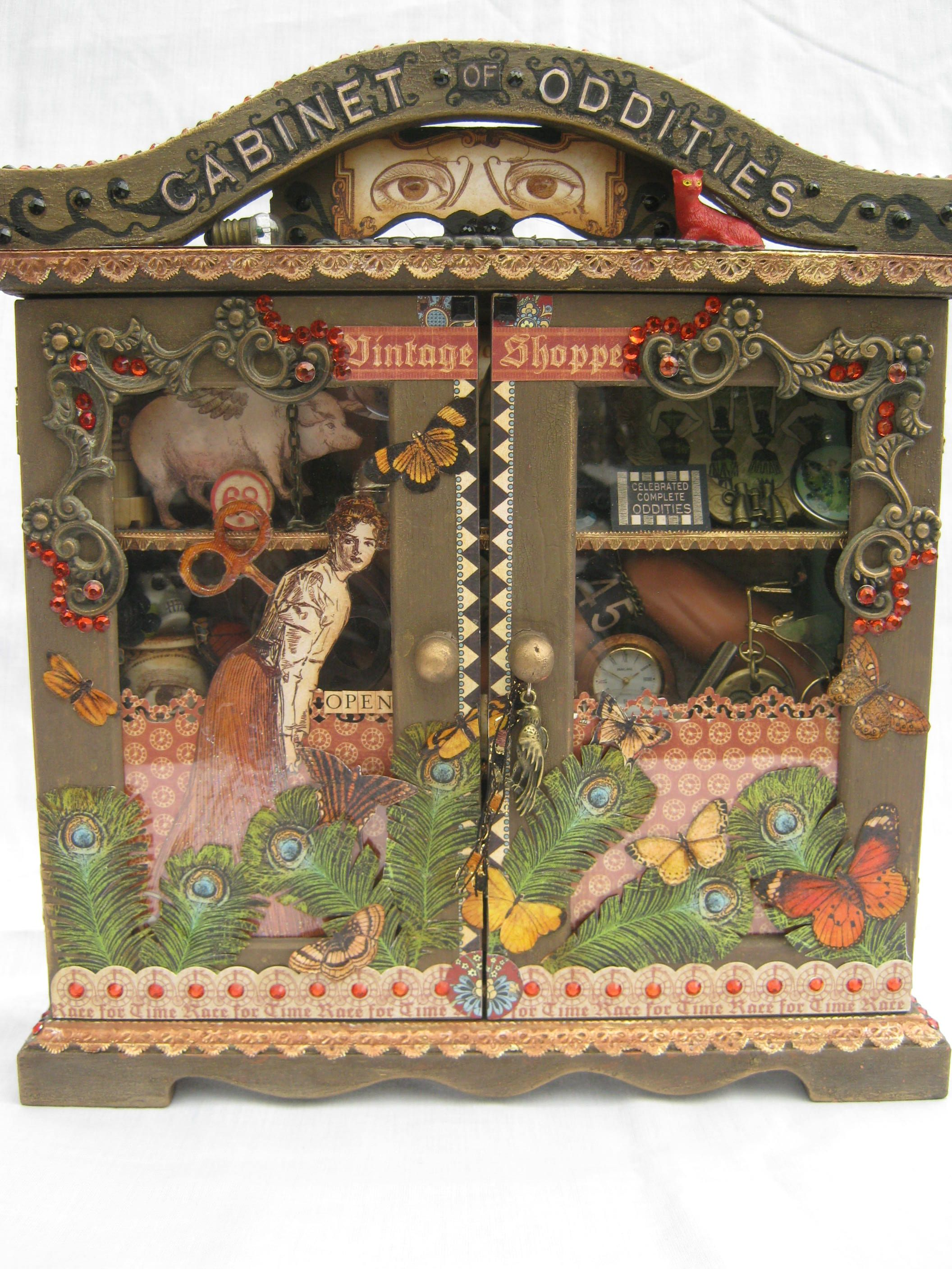 SOLD! A curiosity cabinet! To see my latest items for sale please ...