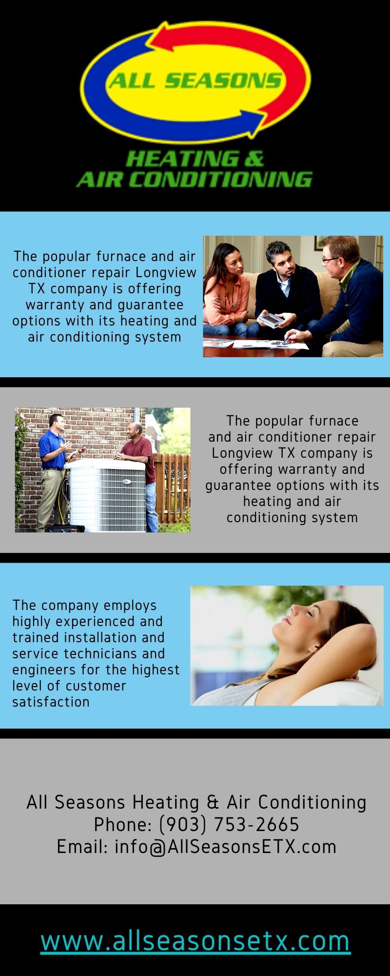 All Seasons Heating & Air Conditioning is a licensed