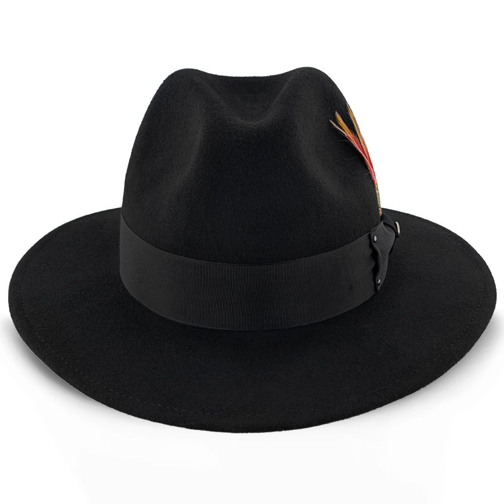 65c0b15575b Empire - Walrus Hats Grey Wool Felt Fedora Hat - H7001