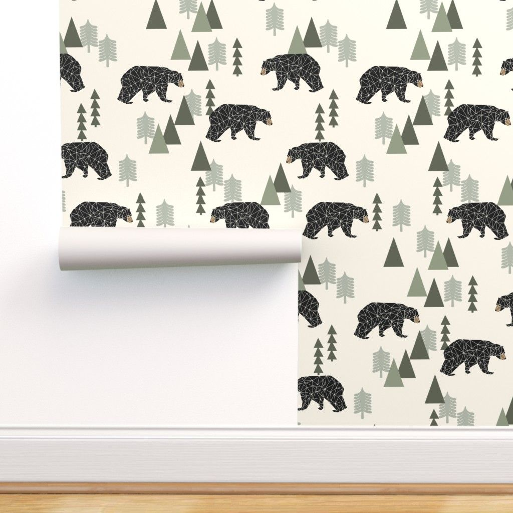 Peel And Stick Removable Wallpaper Bear Forest Woodland Hunting Tree Walmart Com Removable Wallpaper Stick On Wallpaper Wallpaper