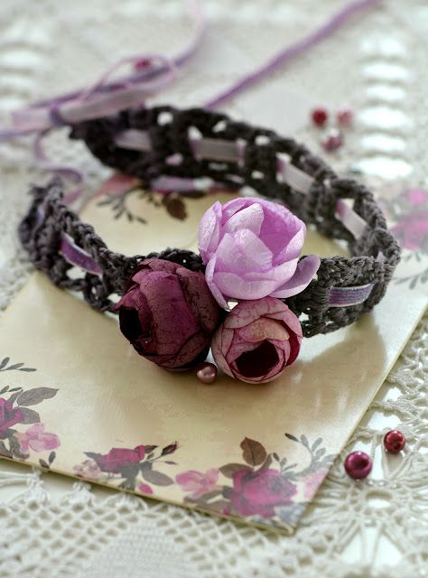 Little Treasures: Romantic Ribbon Headband Pattern   HeadBand ...