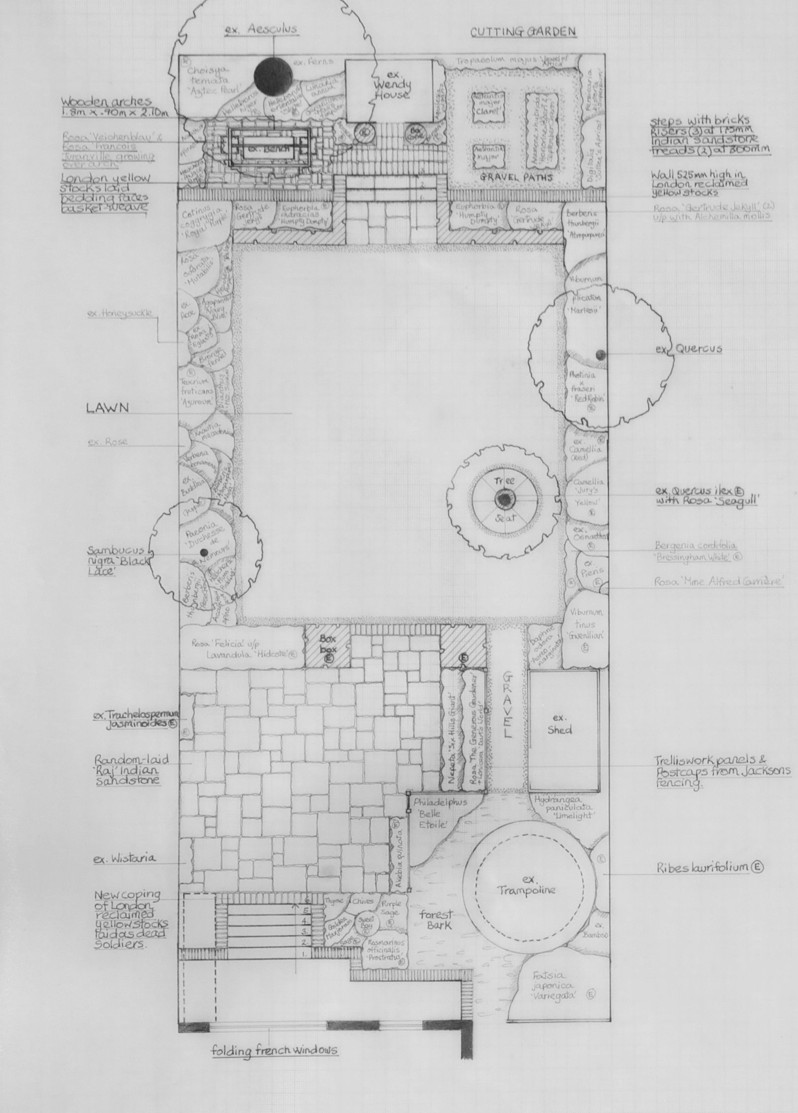 Garden Design North Facing garden design for a north-facing victorian semi-detached house in