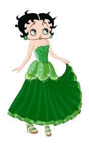 Betty Boop..l......gorgeous in green!