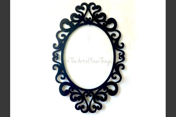 Black Open Back Ornate Frame fits 4x6 gallery wall laser cut wood ...