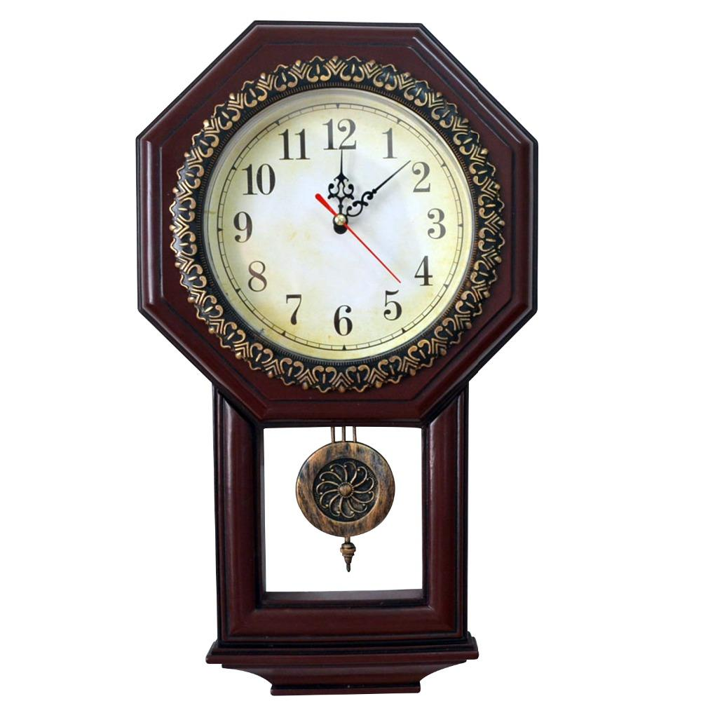 Vintage Wall Clock With Pendulum Antique Style Clocks Display Wall