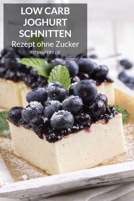 Low Carb Joghurt Schnitten - Eiweißreiches Fitness Rezept ohne Zucker #Carb #Eiweißreiches #Fitness...