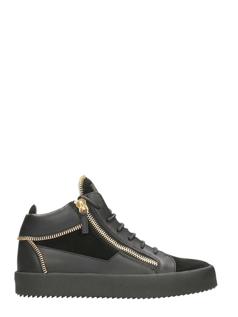 The Most Popular Giuseppe Zanotti Kriss Sneakers Mid Top Black For Men On Sale