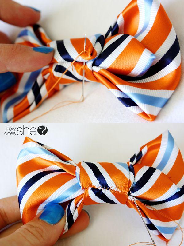 DIY: Make a Bow Tie From a Men\'s Necktie | bows | Pinterest | Make a ...