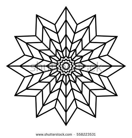 Easy Floral Black And White Mandala For Coloring Book Pages Abstract Doodle Flower Shape To Color F Mandala Coloring Pages Simple Mandala Easy Mandala Drawing