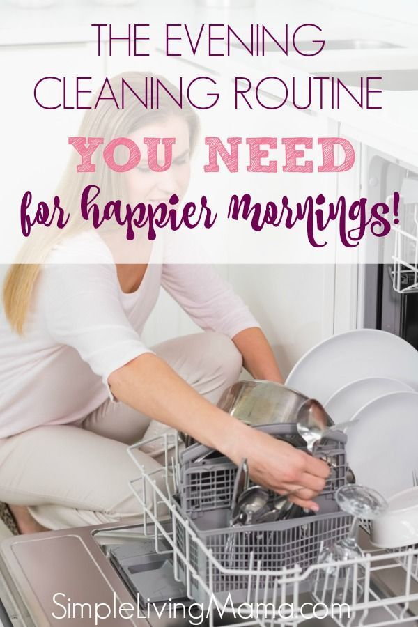 Evening Housekeeping Routine for Busy Moms Evening Housekeeping Routine for Busy Moms