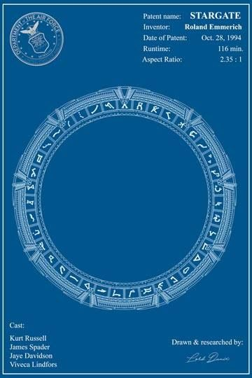 Fan art inspired in stargate movie blueprint design poster books fan art inspired in stargate movie blueprint design poster books movies malvernweather Choice Image