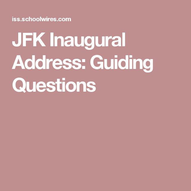jfk inaugural address text