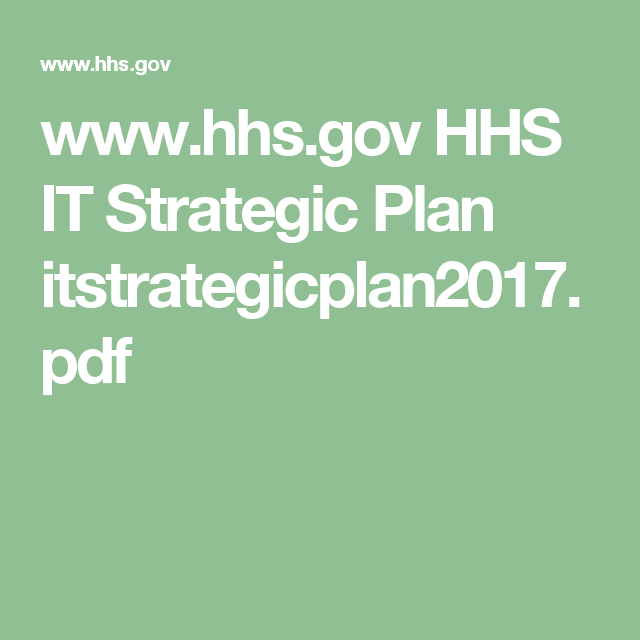 WwwHhsGov Hhs It Strategic Plan ItstrategicplanPdf  Hipaa