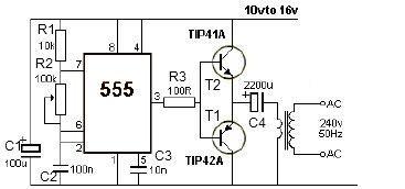 12V power inverter circuit using 555 timer | Electronics in 2019