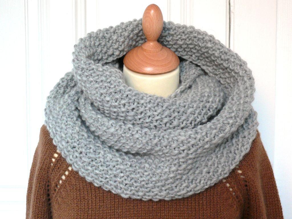 tricoter un tour de cou