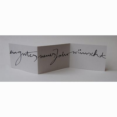 Stefanie Jordan: ein gutes neues jahr - schöne schwungvolle Typo auf ...