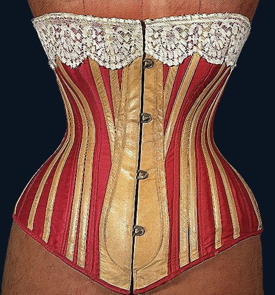 corselet, 1883, fashion, retro