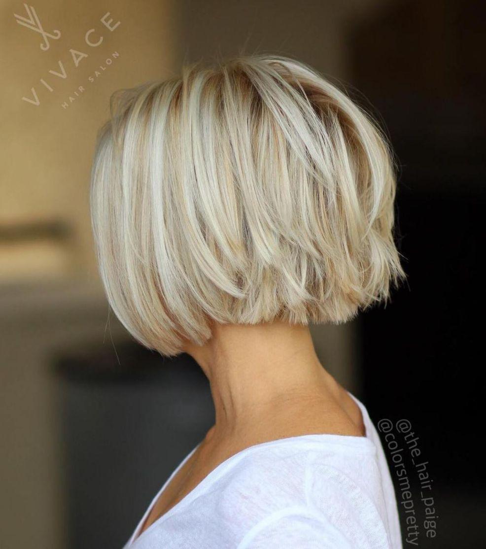 Choppy Piece Y Blonde Bob Haircuts For Fine Hair Thick Hair Styles Short Thin Hair
