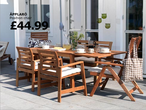 Chairs For Outside | Ikea Outdoor Furniture APPLARO Series IKEA Outdoor Furniture  APPLARO .