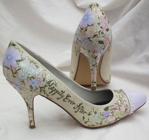 I Love These Hand Painted Wedding Shoes