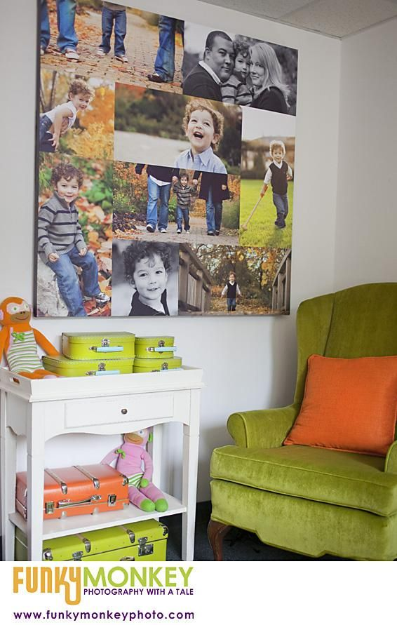 collage of images on one giant canvas