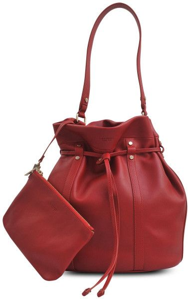Lancel L Essentiel Bucket Bag in Red - Lyst  ad010c311c676