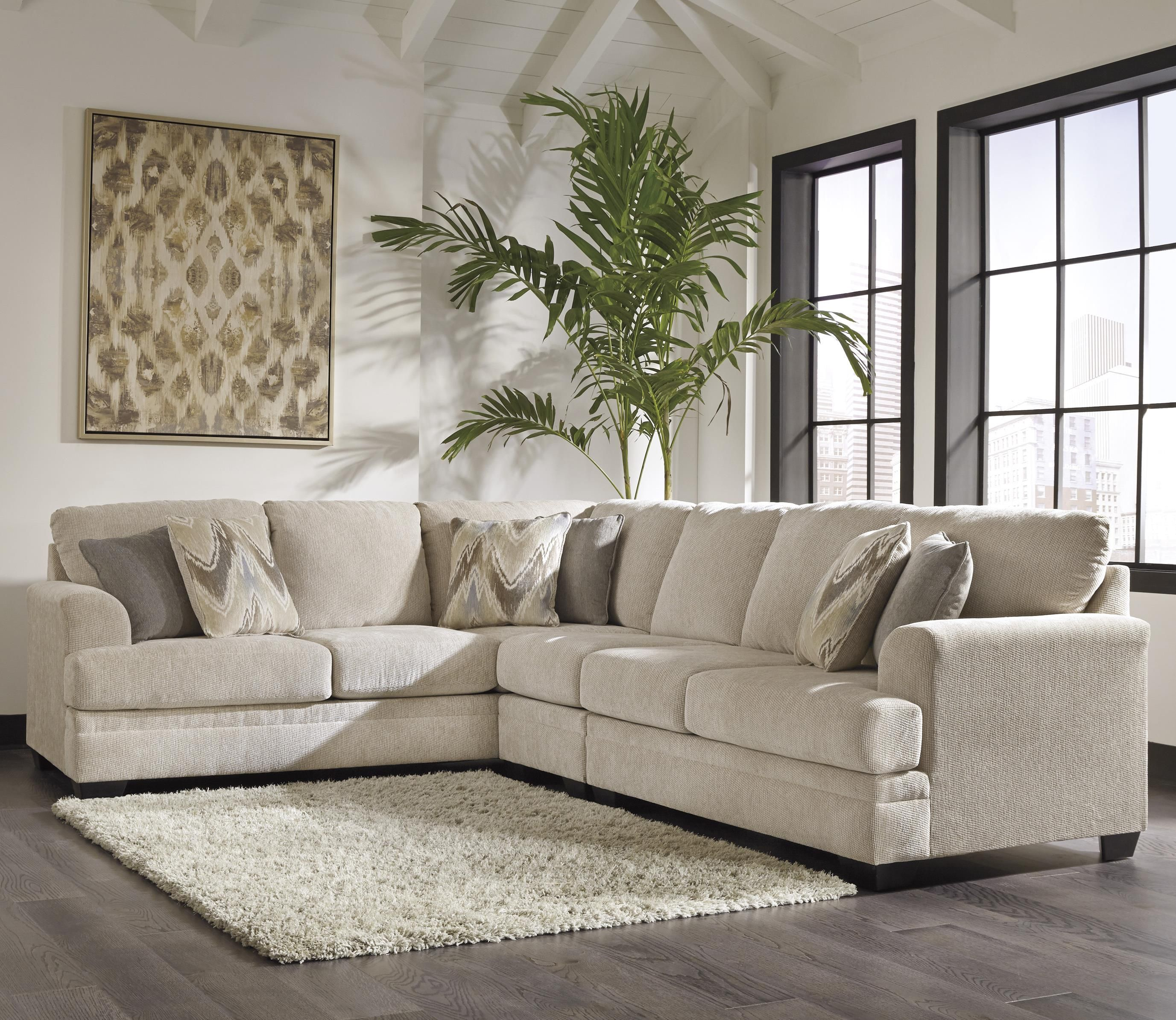 Benchcraft Ameer 3 Piece Sectional Item Number 8180666 46 56