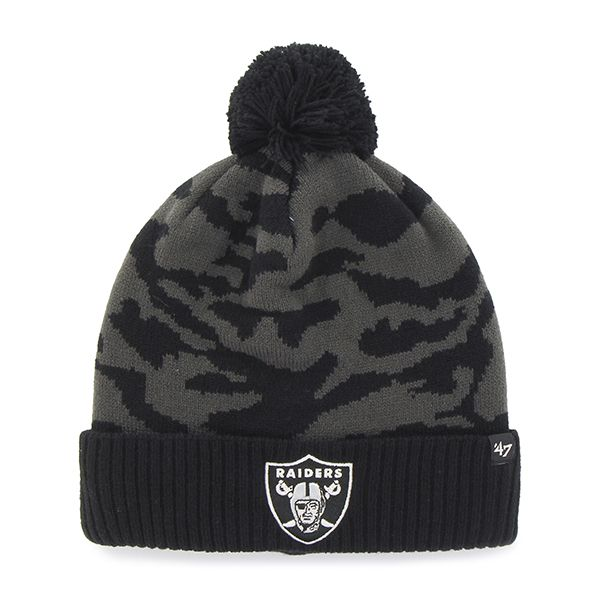 Oakland Raiders M Twenty Nine Cuff Knit Charcoal 47 Brand Hat