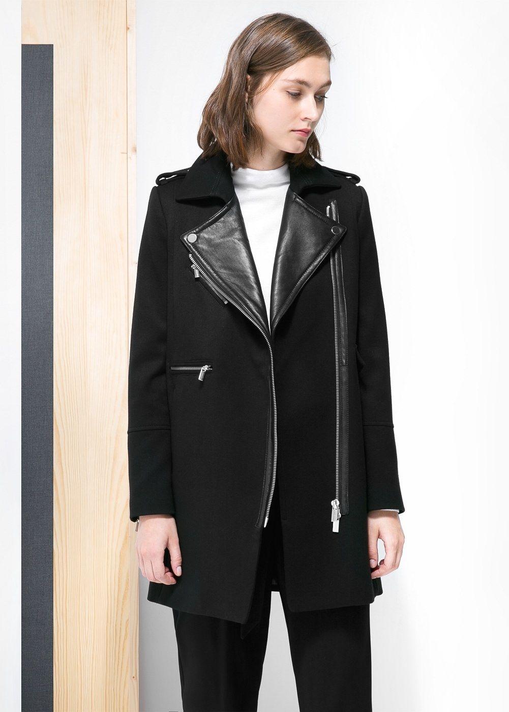 Manteau biker femme minimaliste