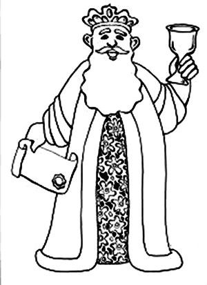 king ahasuerus holding scroll and grail in purim coloring page king ahasuerus holding scroll