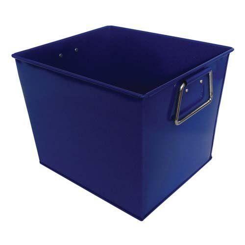 Blue Square Metal Bucket