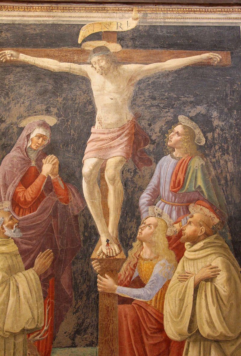 David Ghirlandaio - Crocefissione con Vergine e santi - da chiostro di S.M. degli angeli - ora Museo del Cenacolo di Andrea del Sarto - Firenze