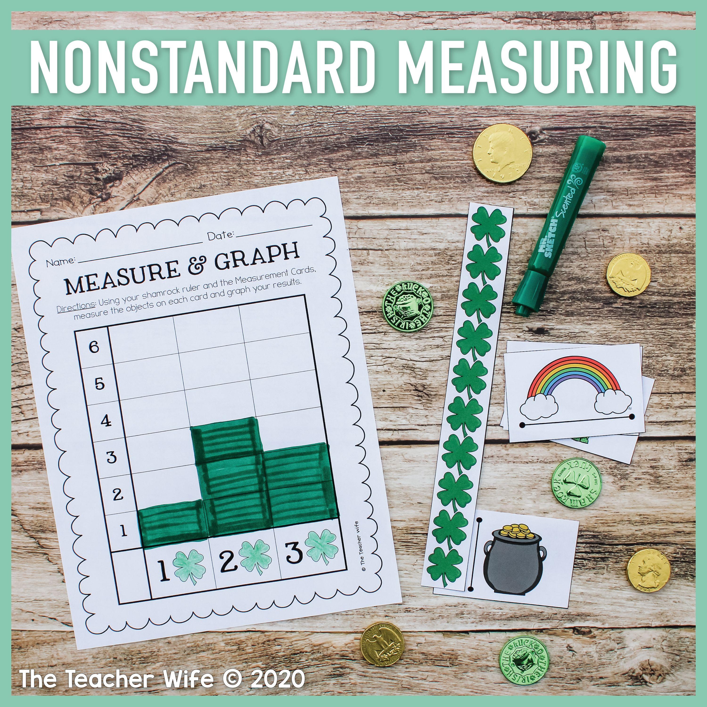Shamrock Measuring Nonstandard Unit In