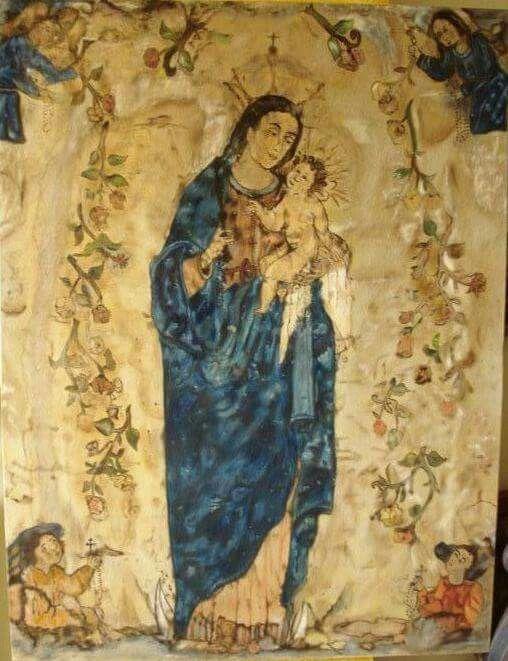 Virgen De La Pobreza Pereira Cartago Y Tado Colombia Painting Art Mariana