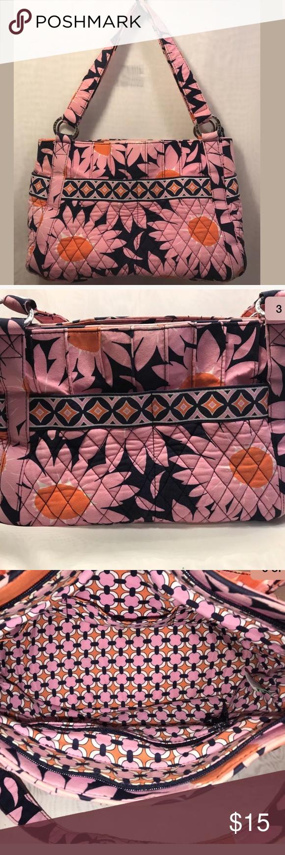 Vera Bradley Stephanie Purse Loves Me Pink Bag