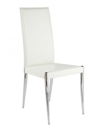 Euro Style Euro Style 04954WHT Rosina Leather Dining Chair in White Leather - Set of 4
